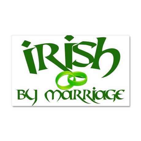 Irish by Marriage - Car Magnet 20 x 12