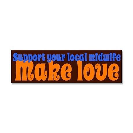 Make Love - Car Magnet 10 x 3