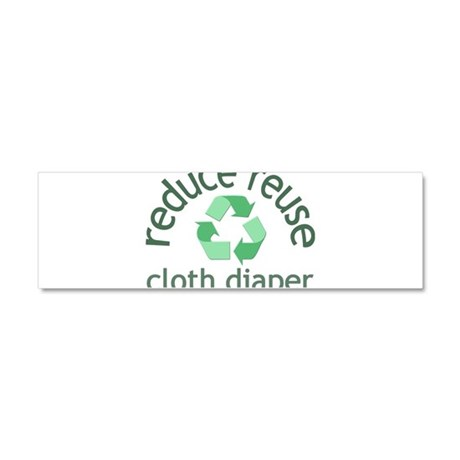 Recycle & Cloth Diaper - Car Magnet 10 x 3