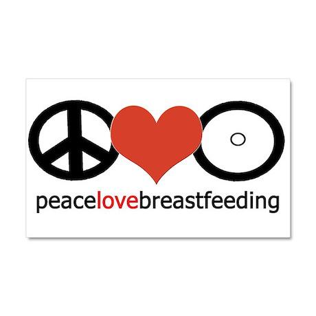 Peace, Love & Breastfeeding Car Magnet 20 x 12