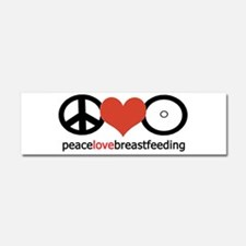 Peace, Love & Breastfeeding Car Magnet 10 x 3