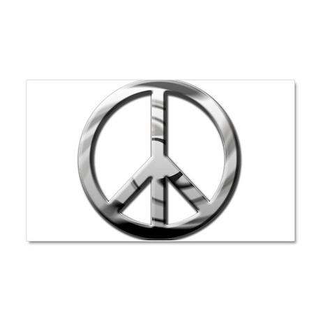 Chrome Peace - Car Magnet 20 x 12