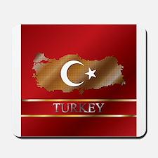 Turkey Map and Turkish Flag Mousepad
