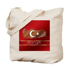 Turkey Map and Turkish Flag Tote Bag