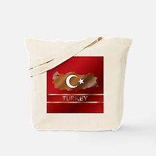Turkey Map and Turkish Flag Tote Bag