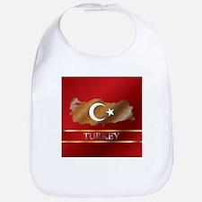 Turkey Map and Turkish Flag Bib