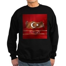 Turkey Map and Turkish Flag Sweatshirt