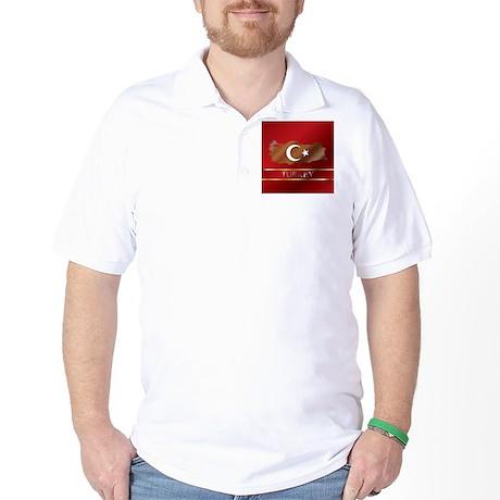 Turkey Map and Turkish Flag Golf Shirt