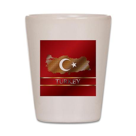 Turkey Map and Turkish Flag Shot Glass