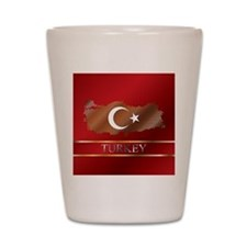 Turkey Map and Turkish Flag Shot Glass