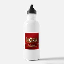 Turkey Map and Turkish Flag Water Bottle