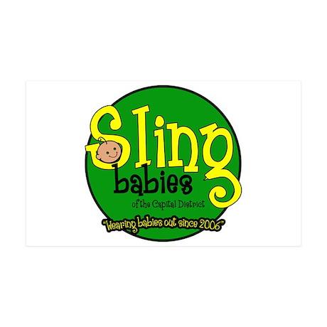Sling Babies Fan - 38.5 x 24.5 Wall Peel