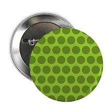 """Dark Green Polka Dots 2.25"""" Button"""