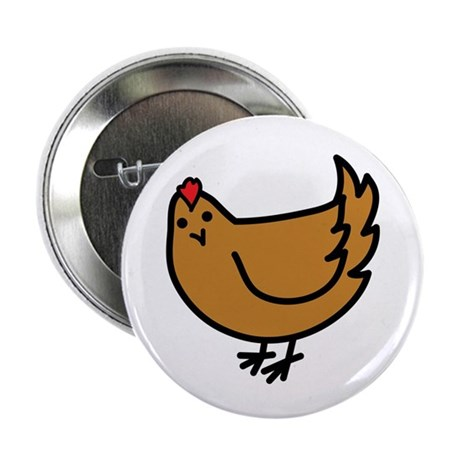 "Cute Chicken 2.25"" Button (10 pack)"