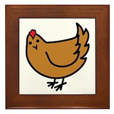 Cute Chicken Framed Tile