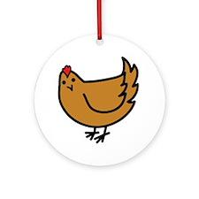 Cute Chicken Ornament (Round)