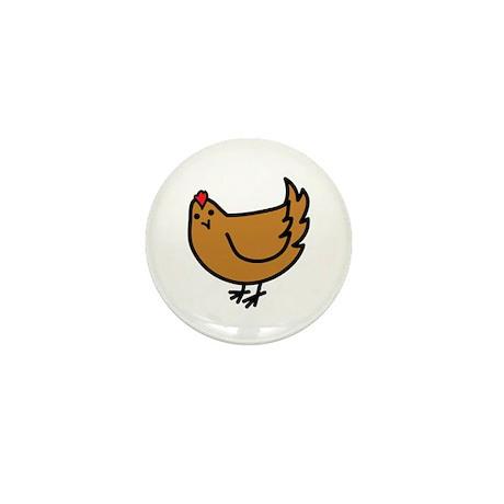 Cute Chicken Mini Button