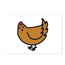 Cute Chicken Postcards (Package of 8)