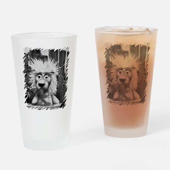 Pookie the Lion Retro Drinking Glass