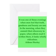 aldous huxley quotes Greeting Cards (Pk of 10)