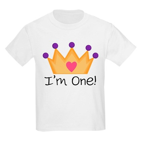 Princess 1st Birthday Kids Light T-Shirt