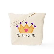 Princess 1st Birthday Tote Bag