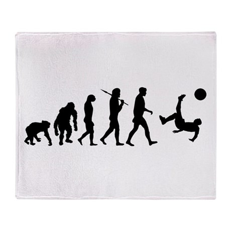 Soccer Evolution Throw Blanket