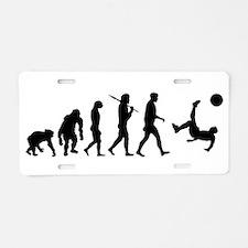 Soccer Evolution Aluminum License Plate