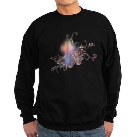 Circles N Swirls Cross Sweatshirt (dark)