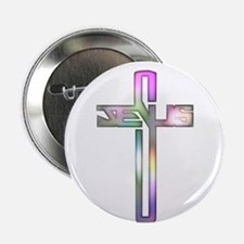 "Colorful Jesus Cross 2.25"" Button"