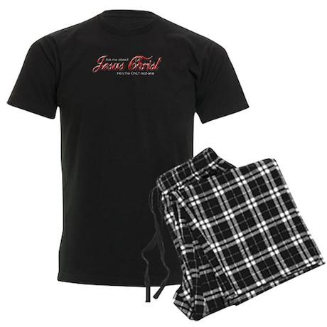 Jesus Christ Men's Dark Pajamas