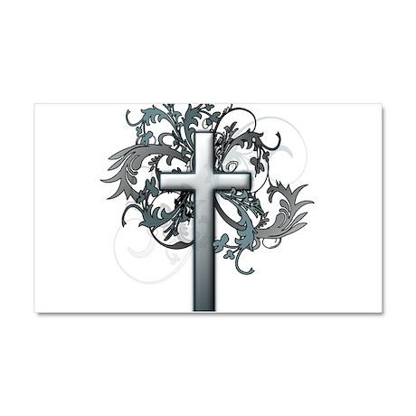 Floral Cross Graphic Car Magnet 12 x 20