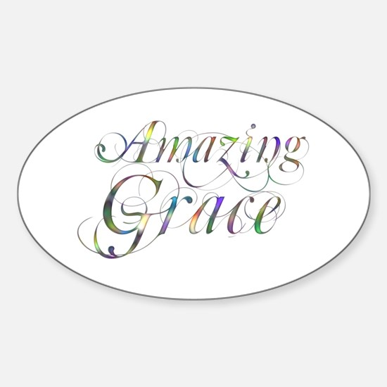 Amazing Grace Sticker (Oval)