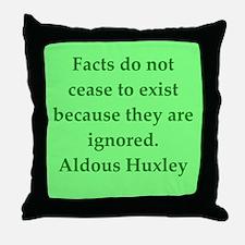 aldous huxley quotes Throw Pillow