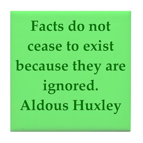 aldous huxley quotes Tile Coaster