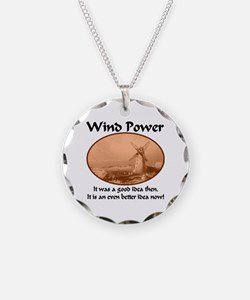 Wind Power Then & Now Necklace