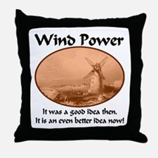 Wind Power Then & Now Throw Pillow