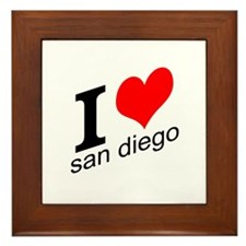 I (heart) San Diego Framed Tile