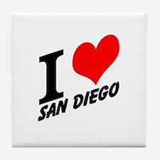 I (heart) San Diego Tile Coaster