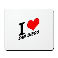 I (heart) San Diego Mousepad