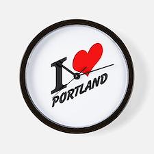 I (heart) Portland Wall Clock