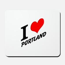 I (heart) Portland Mousepad
