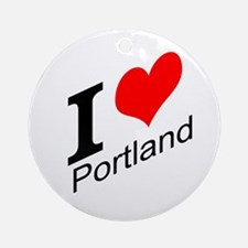 I (heart) Portland Ornament (Round)