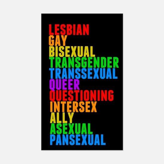 LGBTTQQIAAP Sticker (Rectangle)