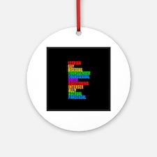 LGBTTQQIAAP Round Ornament