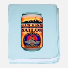 US Navy Tin Can Sailor baby blanket