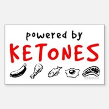 Powered By Ketones Decal