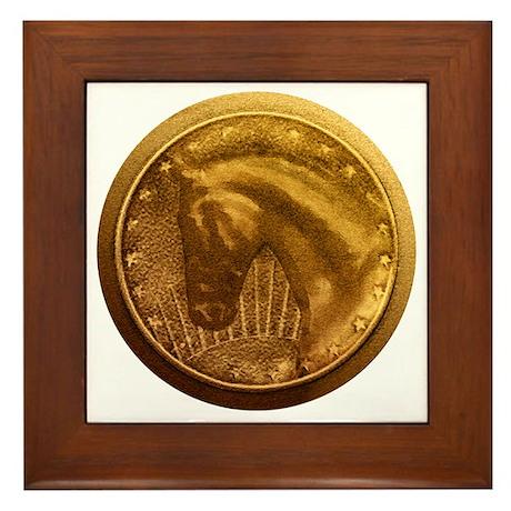 Gold Medal Horse Trophy Framed Tile