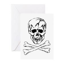 SKULL & CROSSBONES Greeting Cards (Pk of 20)