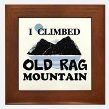 I Climbed Old Rag Mountain Framed Tile
